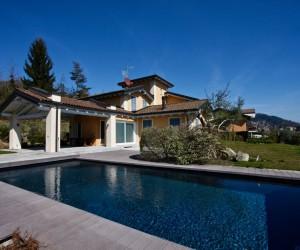 Verbania collina Villa indipendente con parco, piscina e Vista Lago - Rif: 074